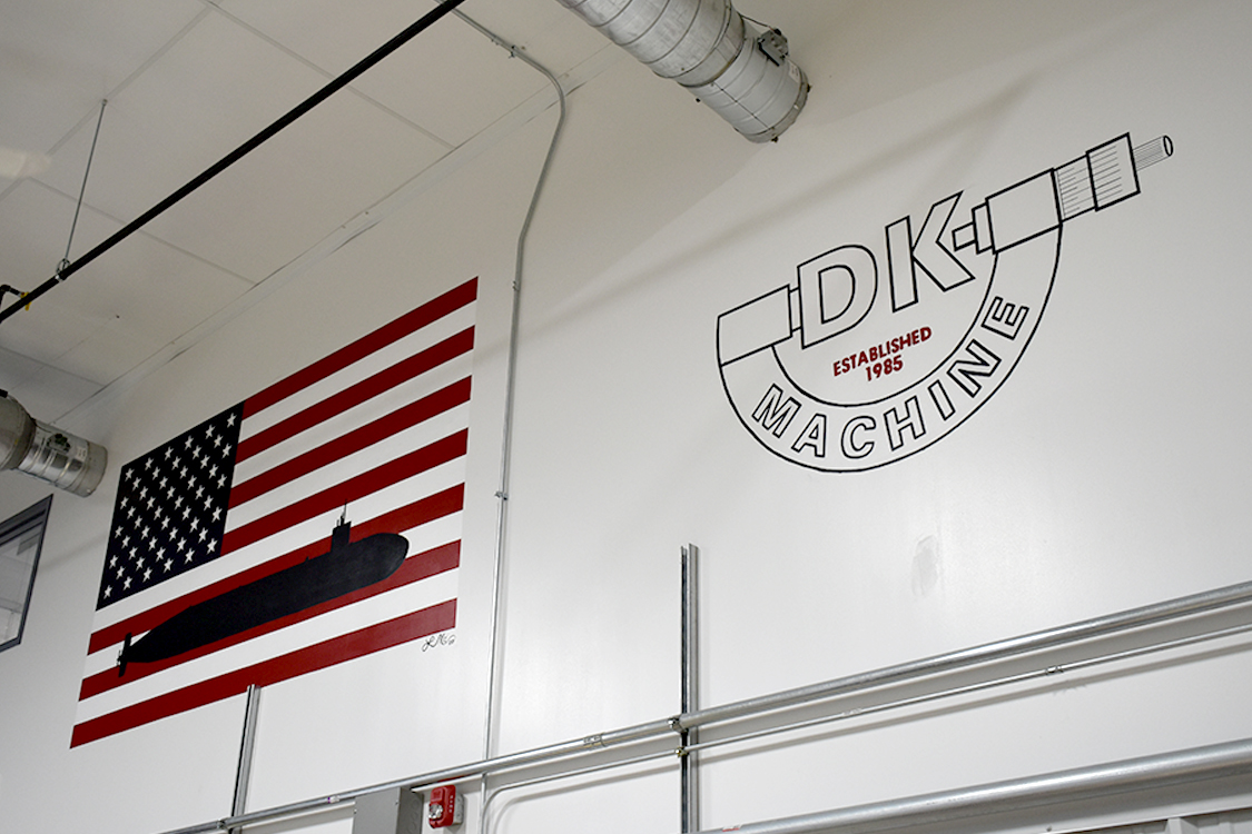 DK banner on wall
