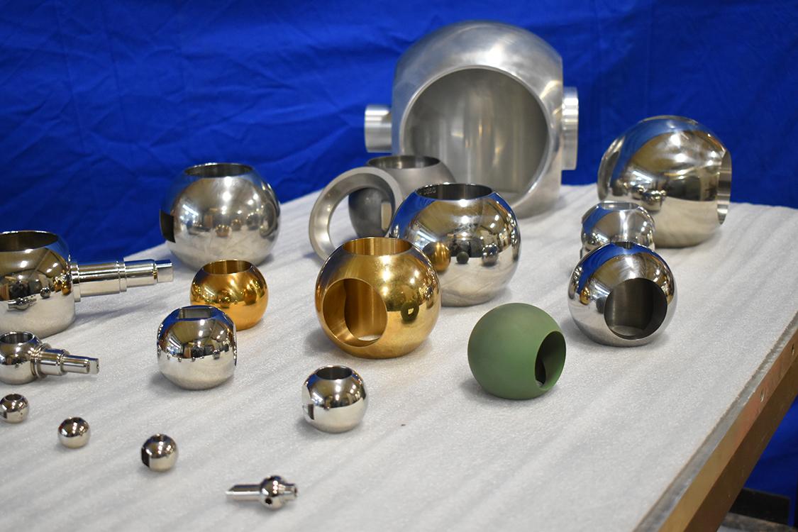 different sizes of valve balls